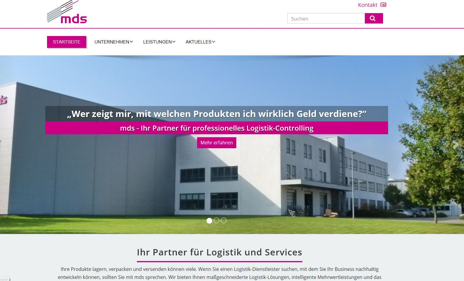 Logistik-Website